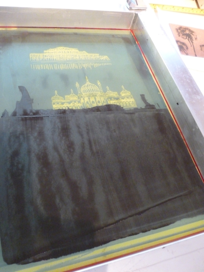 Making images in glass using silkscreens - a little tutorial-4