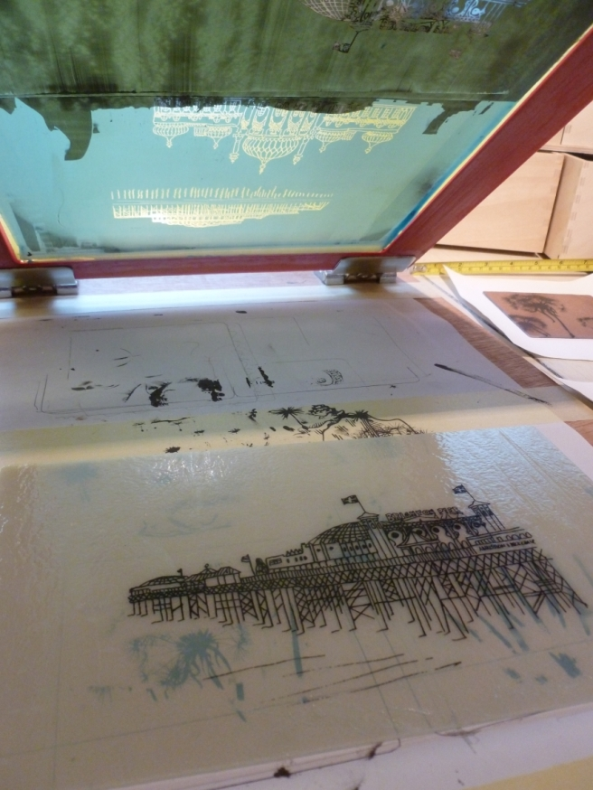 Making images in glass using silkscreens - a little tutorial-5