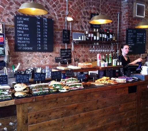 Cafe coho on Shop Street, Brighton. Photo from lovely brighton.blogspot