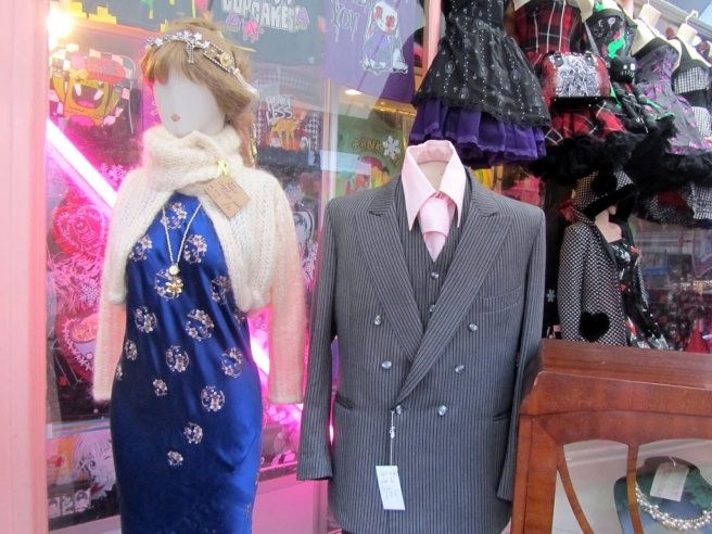 Vintage clothing in  Snoopers Paradise, Brighton