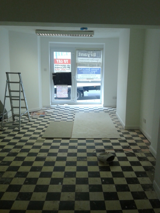 Our new shop before the work