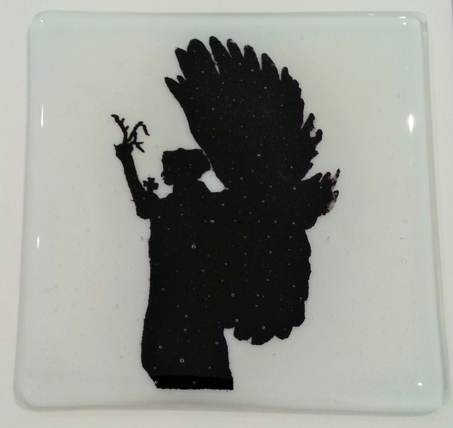 Brighton and Hove peace Statue Handmade Glass Tile
