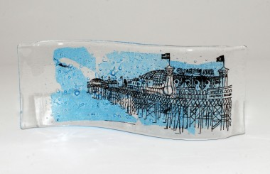 We continues to design and make our unique range of handmade fused glass in house and have done some lovely commissions for homes and hotels.