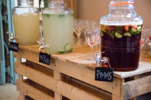 Everyone loved the cocktails in kilner jars!