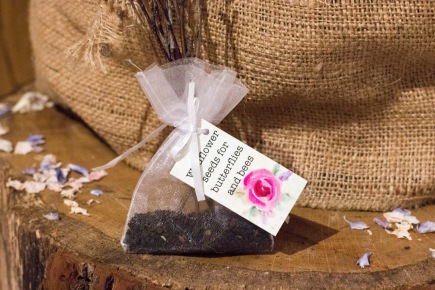 We put together little bags of wildflower seeds as wedding favours for our guests