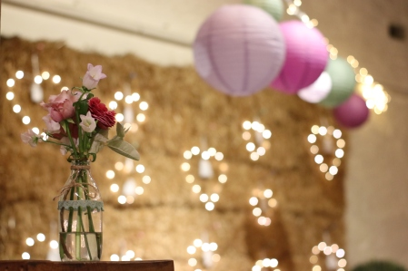 We decorated the barn with some lights from Little Beach Boutique